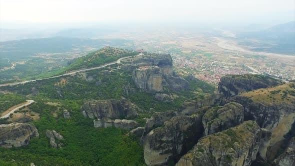 Thumbnail for Meteora monasteries complex and Kalambaka town