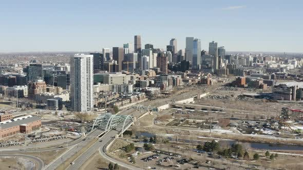 Thumbnail for Daytime Sun Aerial View Denver Colorado Cityscape