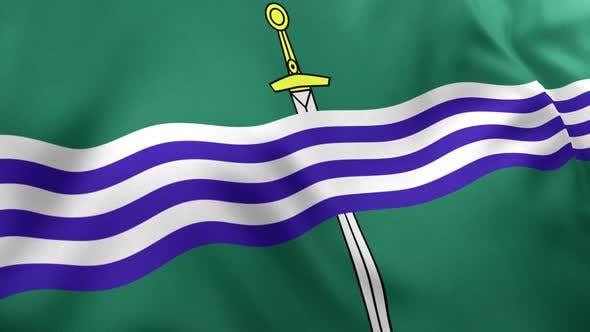 Peterborough City Flag (Canada) - 4K