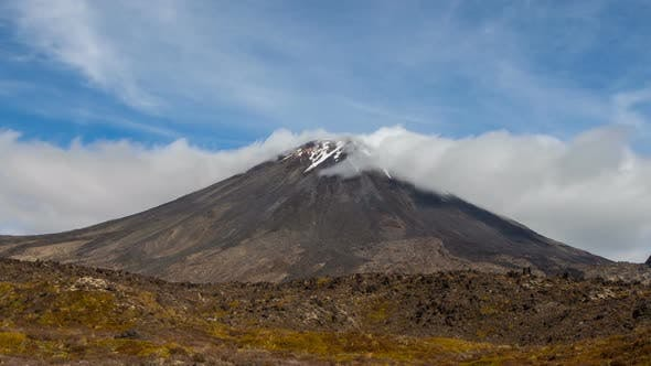 Mount Ngauruhoe from New Zealand