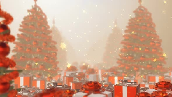 Thumbnail for Christmas Tree Snowflakes Moving