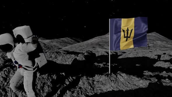 Thumbnail for Astronaut Planting Barbados Flag on the Moon