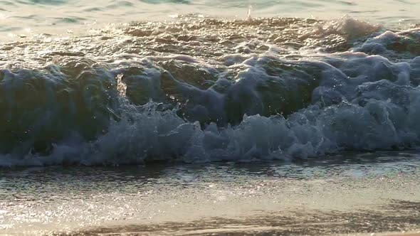 Sunset Wave in Slow Motion