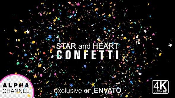 Thumbnail for Star And Heart Shape Birthday Celebration Confetti