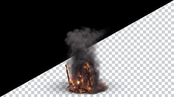 Brennende Turm-Zerstörung