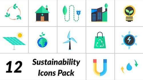 Pack d'Icones de développement durable