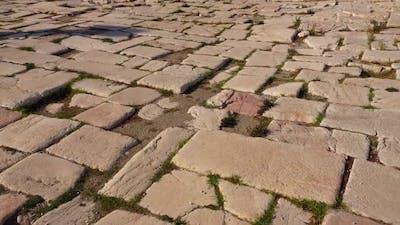 Block Pavement of an Ancient Street