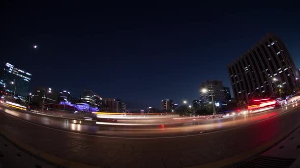 Thumbnail for Timelapse of Night Road Traffic in Seoul, South Korea