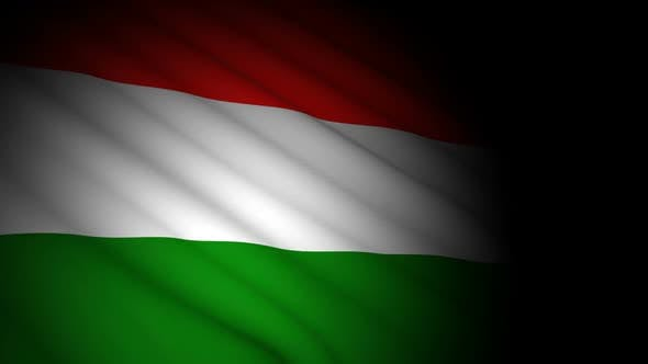 Thumbnail for Hungary Flag Blowing in Wind