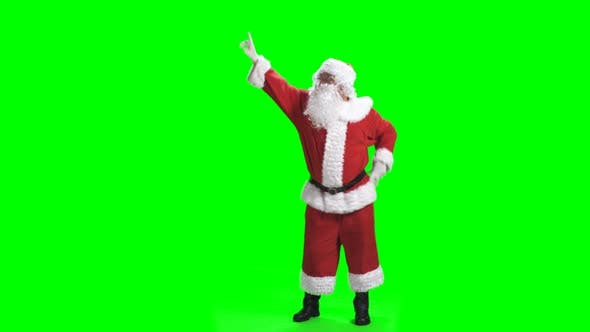 Thumbnail for Merry Christmas. Dancing Santa Claus In Full Growth In Red Suit