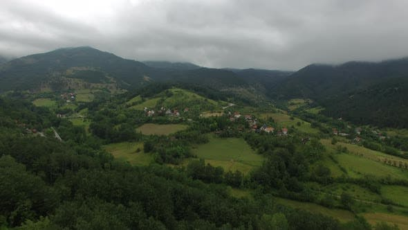 Thumbnail for Aerial Landscape with Mountain Countryside in Serbia