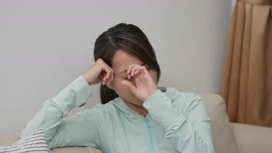 Thumbnail for Woman feel headache at home