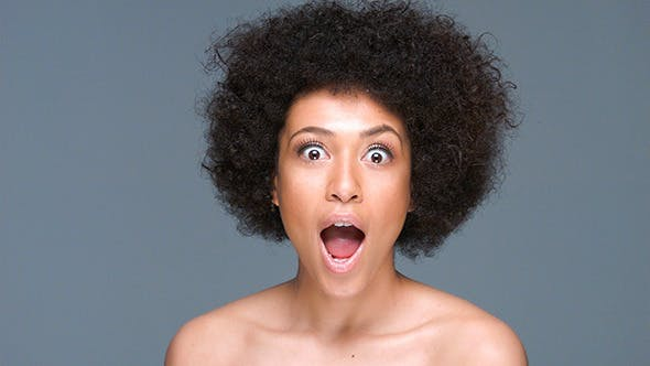 Thumbnail for Shocked Beautiful African American Woman