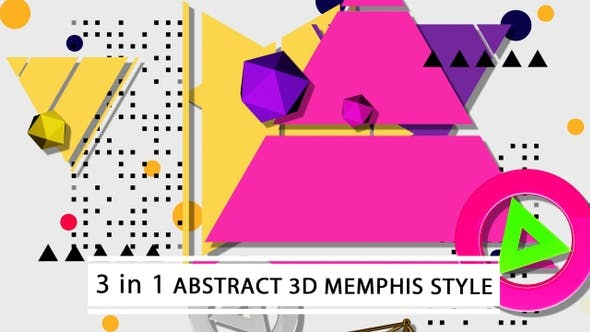 Abstract 3D Memphis Style