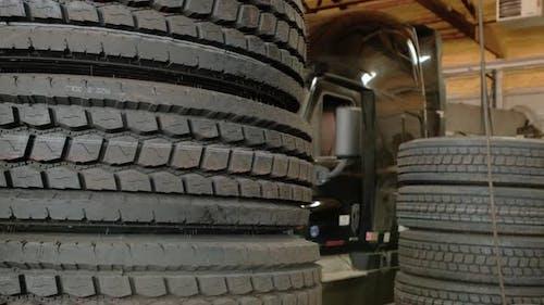 Futage of Truck Services Repair Shop