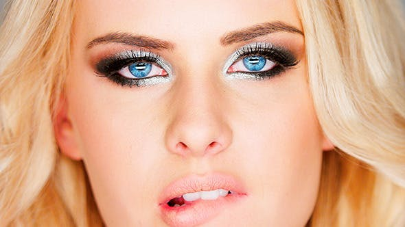 Thumbnail for Beautiful Pensive Blue Eyed Blonde Woman
