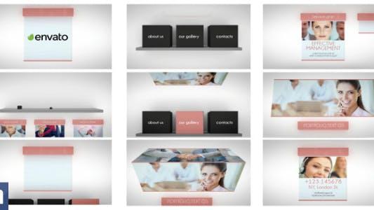 Thumbnail for Чистая 3D бизнес-презентация