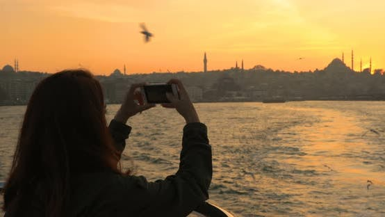 Thumbnail for Woman Photographing Istanbul City