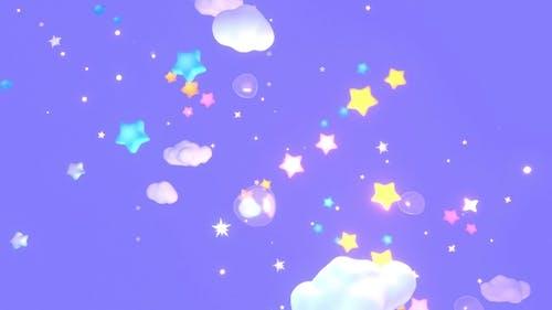 Cartoon Stars Sky