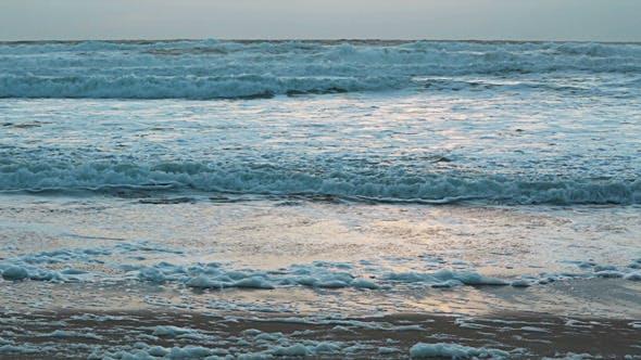 Thumbnail for Sunset Storm Waves Crashing During Windy 03