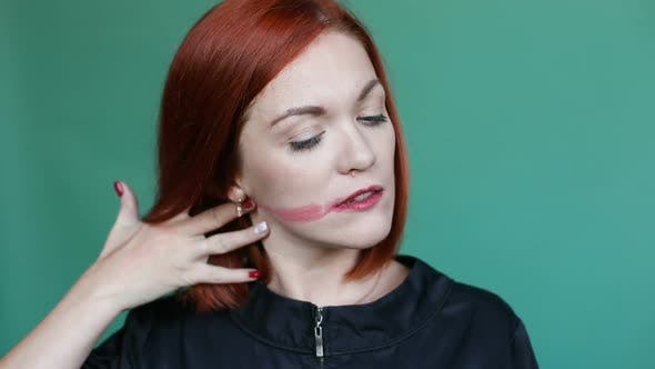 Thumbnail for Woman Cleaning and Removing Makeup From Her Face, Looking at Camera, Showing Face Without Cosmetics.
