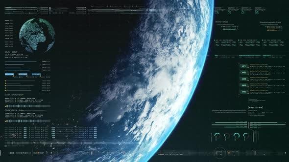 Futuristic Holographic Earth Head Up Display 01