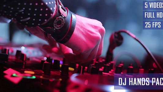 Thumbnail for Nightclub DJ Hands Close Up (5-Pack)