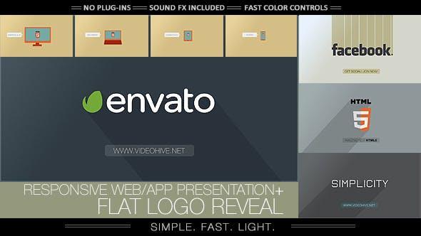 Thumbnail for Flat Logo - Responsive Design Corporate App