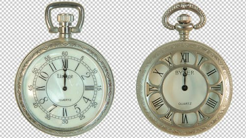 Zwei altmodische Uhren