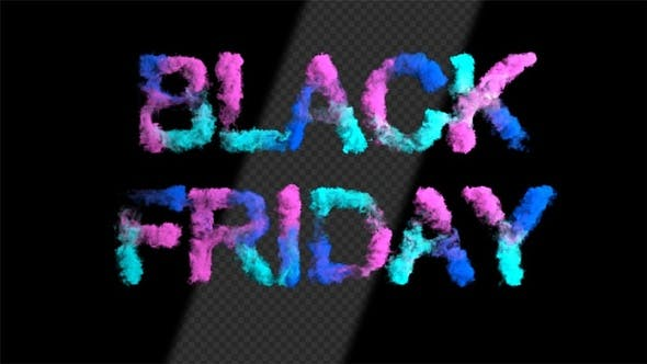 Thumbnail for Colorful Black Friday Smoke Text Ver.1