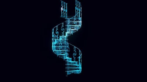 Cast Iron Staircase Hologram Rotating Hd