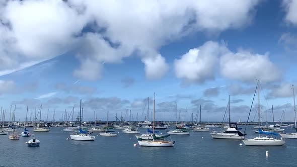 Thumbnail for Time Lapse View of Monterey Bay Harbor Showing Boats. California Coast.