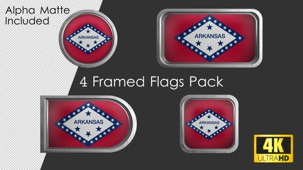 Thumbnail for Arkansas State Flag Framed