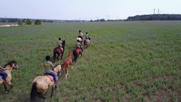 Thumbnail for Group of Horseback Riders