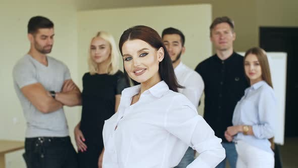 Thumbnail for Business Leader with Employees Group