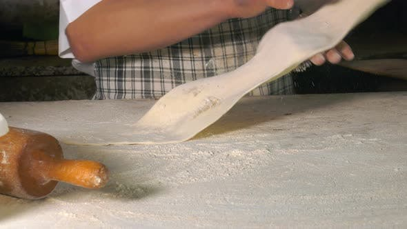 Thumbnail for Making Dough With Flour To Make Turkish Pita
