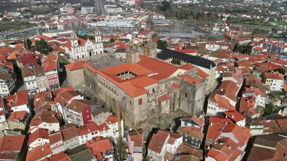 Thumbnail for Aerial View of Historic Town Viseu in Portugal