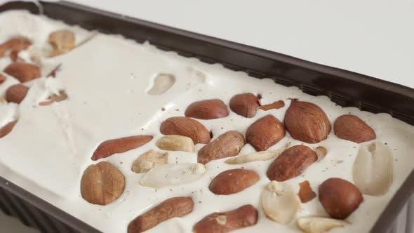 Thumbnail for Honey nougat halva  with almonds  4K video