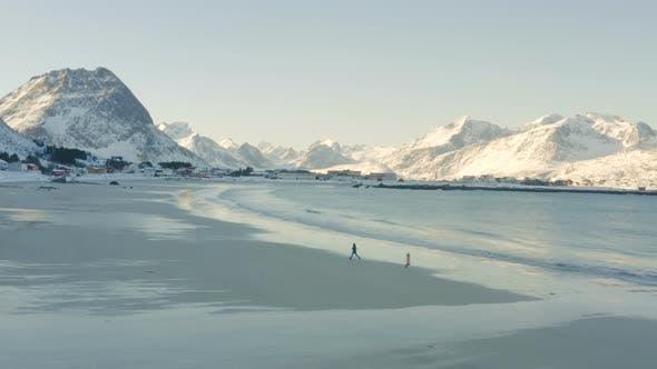 Children On A Winter Polar Beach 4