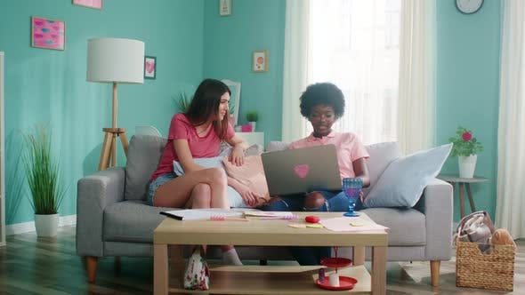 Thumbnail for Women Soulmates Sit On Sofa and Dispute