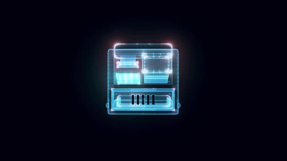 Cash Register Hologram 4k