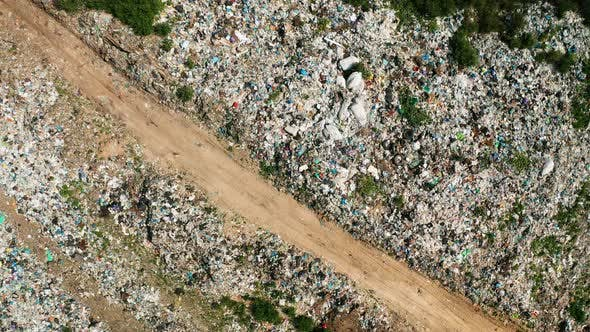 Thumbnail for Aerial View of Dump in Forest. Pollution Concept, Top View