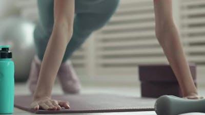 Sportswoman Doing Push-ups