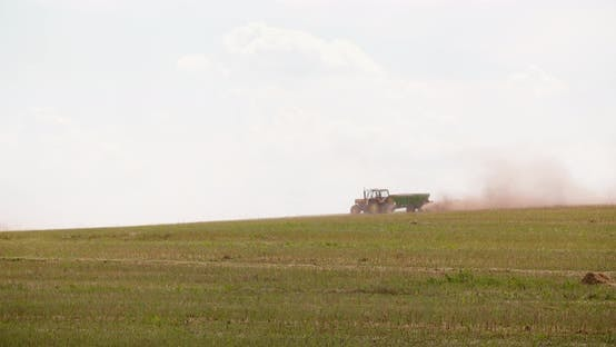Thumbnail for Tractors Blowing Dust On Field