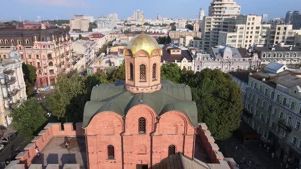 Architecture of Kyiv, Ukraine : Golden Gate. Aerial View