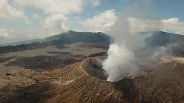 Cover Image for Active Volcano with a Crater. Gunung Bromo, Jawa, Indonesia.