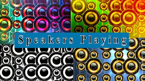 Speakers Playing (4 In 1)