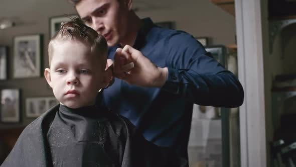 Thumbnail for Cutting Hair of Little Boy in Salon