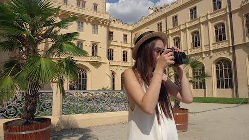 Woman Exploring Lednice Czechia