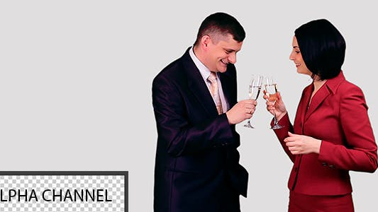 Thumbnail for Business People Drinking Wine